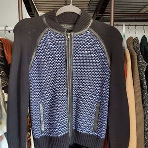 Rag & Bone Black and Blue Cardigan